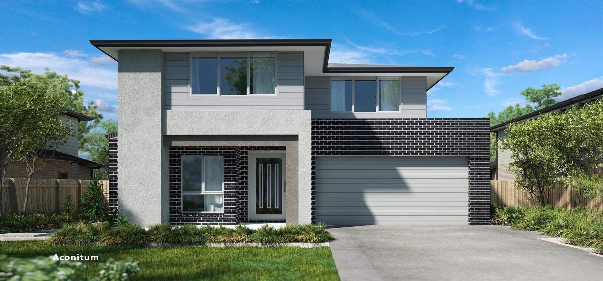 Aconitum Double House Design