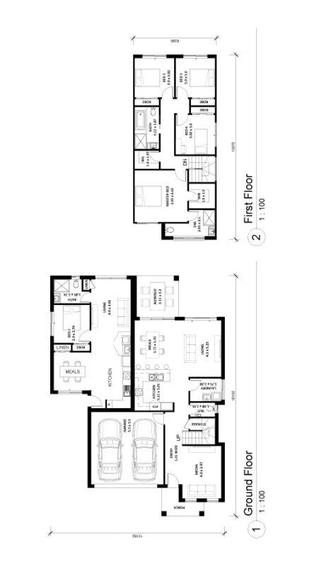 Altena-291B House and Granny Floor Plan Img