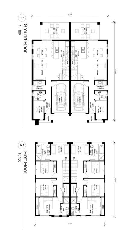 Berkeley-19.5 Duplex Floor Plan Img