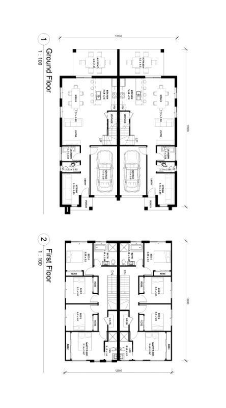 Berkeley-20.5 Duplex Floor Plan Img